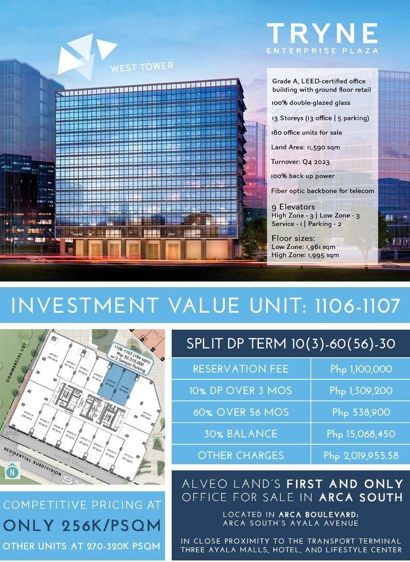 Promo – Tryne-Enterprise Plaza Preselling Office in Arca South Taguig